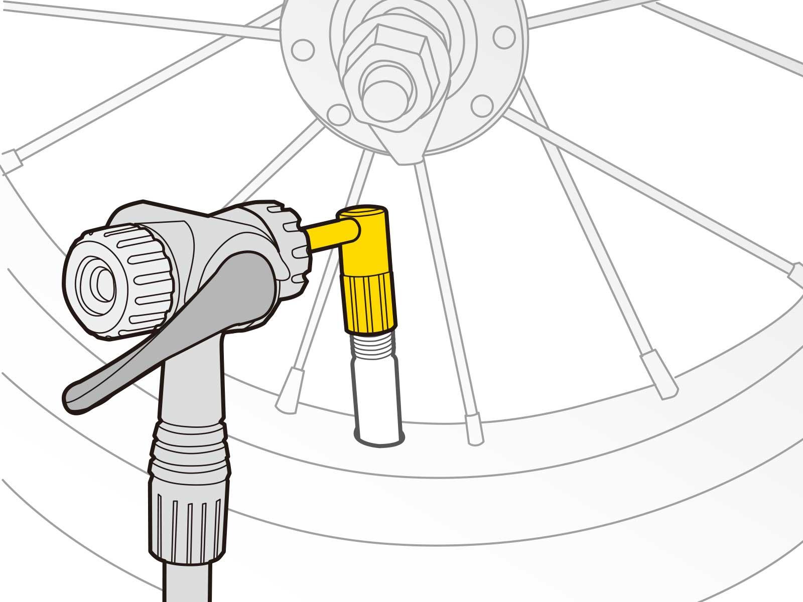 Topeak Tsv-01 Pressure Right Schrader Valve Adaptor