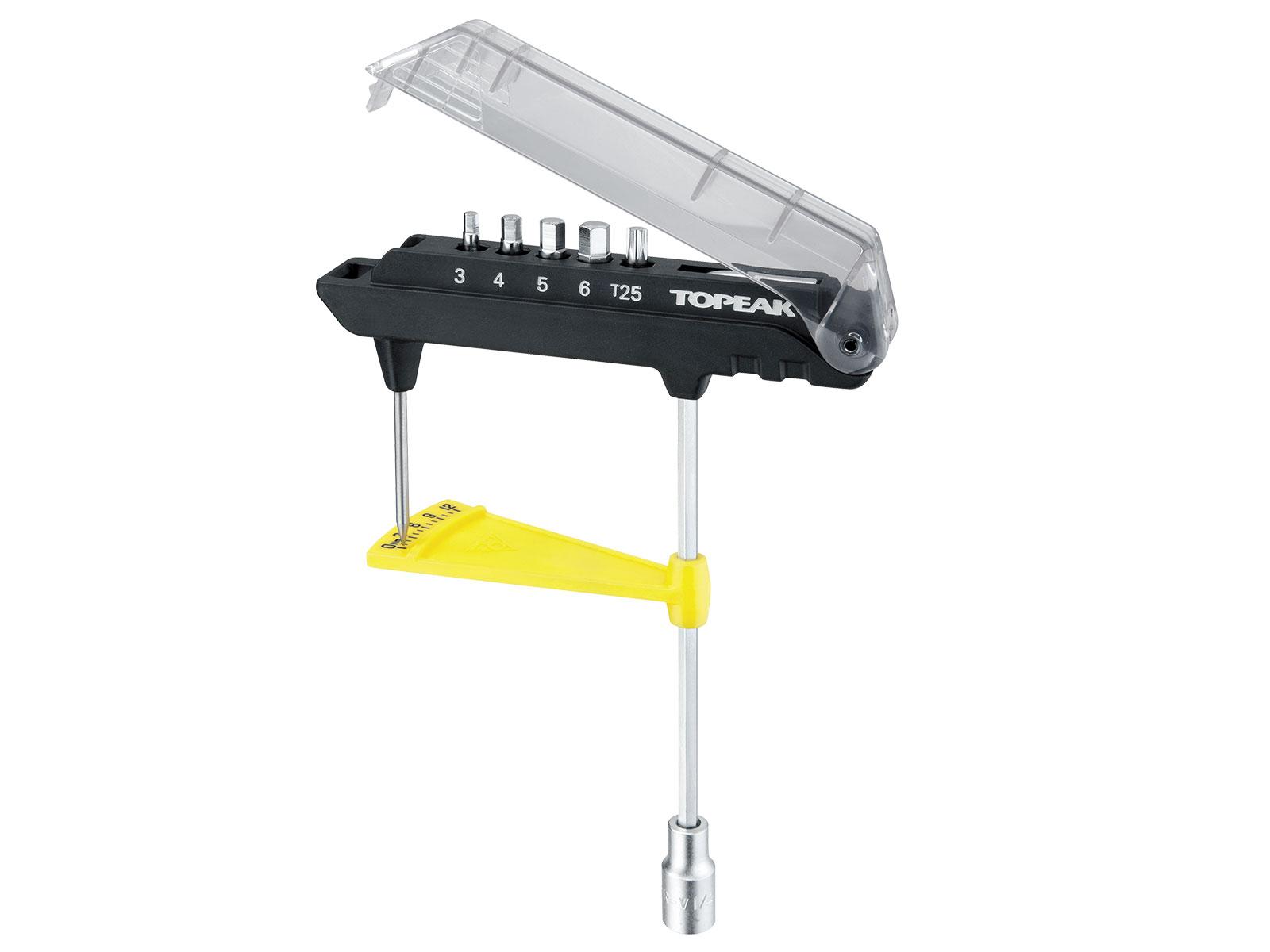 Bike Bicycle Hex Keys Torque Tool Topeak TPS-SP07 ComboTorq Wrench /& Bit Set